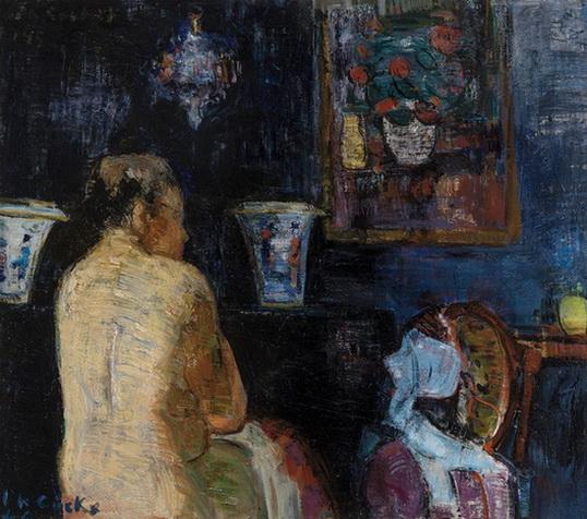 Philibert Cockx - Femme a sa toilette