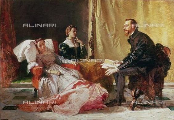 Domenico Morelli - Tasso e Eleonora d'Este