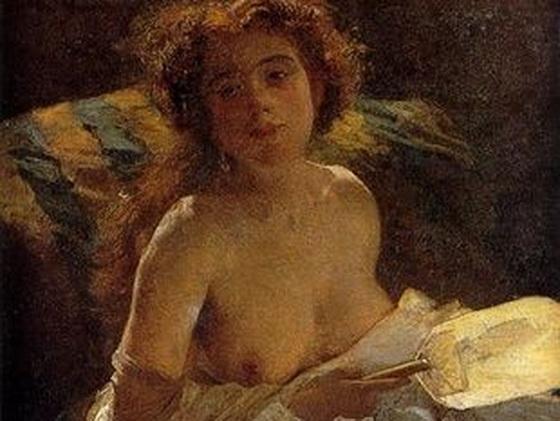 Domenico Morelli - La Dama con ventaglio