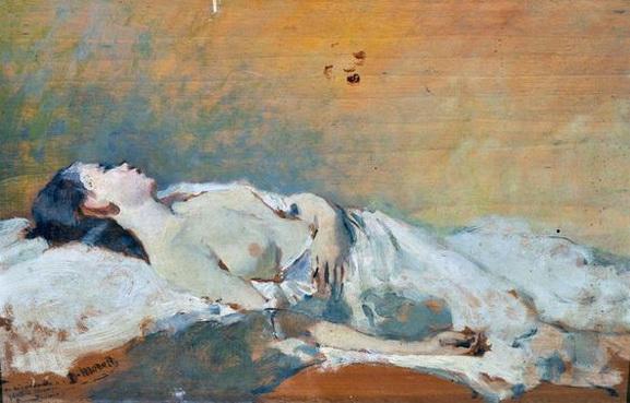 Domenico Morelli - Nudo femminile