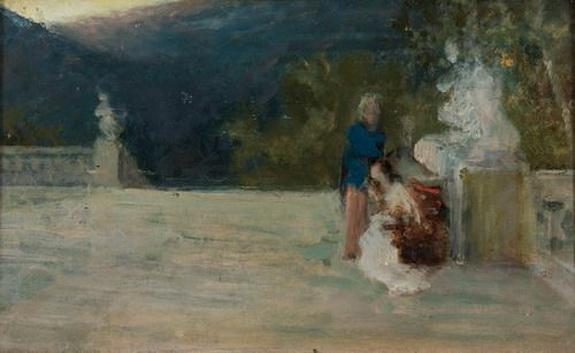 Domenico Morelli - figure in terrazza