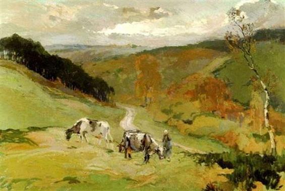 Henri Roidot - Vachere et troupeau