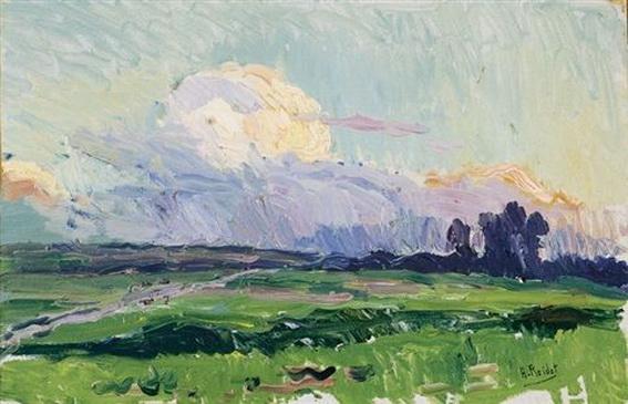 Henri Roidot - Kleurig landschap