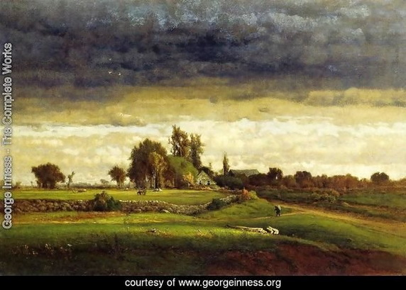 George Inness - Landscape with Farmhouse