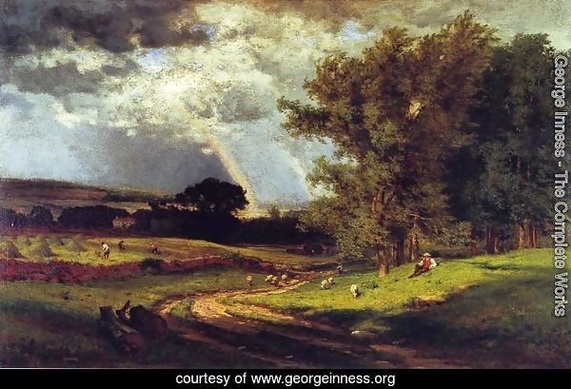 George Inness - A Passing Shower