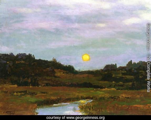 George Inness - Harvest Moon