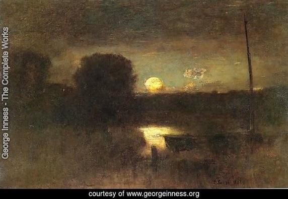 George Inness - Moonrise