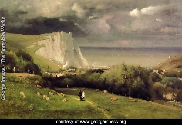 George Inness - Etretat I