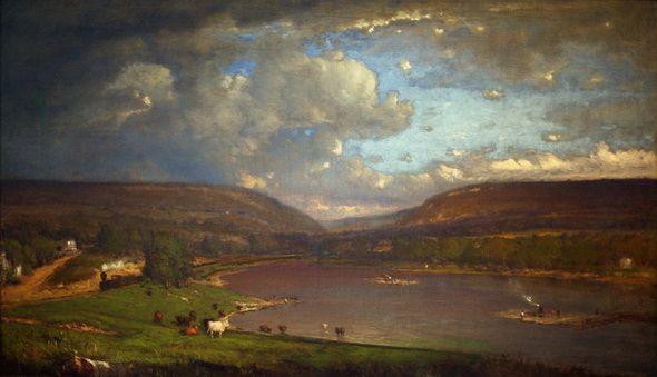 George Inness - On the Delaware River