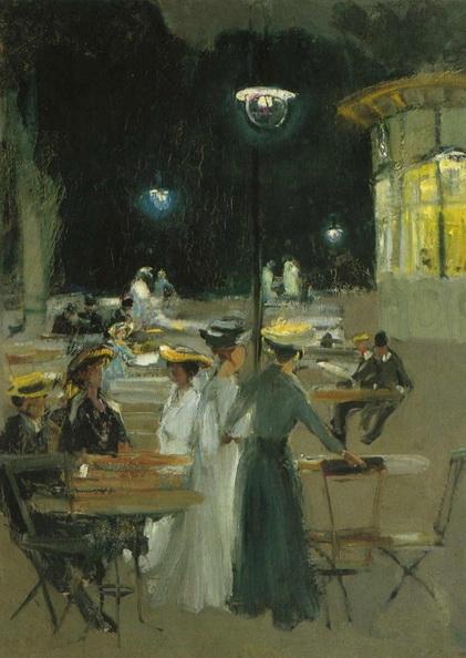 Ludwik de Laveaux - Paris Cafe at Night
