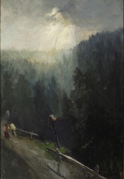 Ludwik de Laveaux -  On the way to Morskie Oko