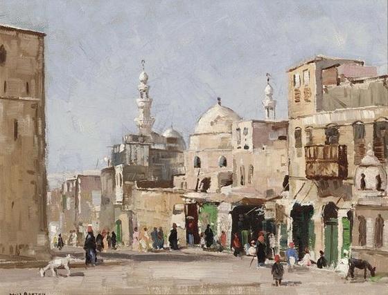 John William Ashton - On the Way to The Citadel, Cairo