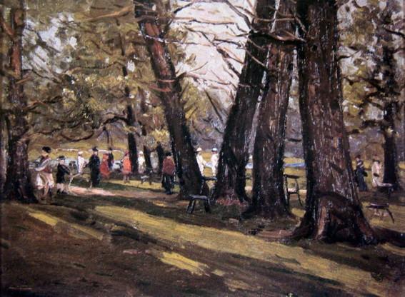 John William Ashton - Park Scene