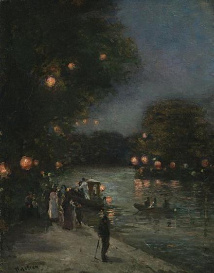 John William Ashton - Evening Along the Seine