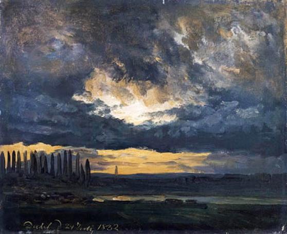 Johan Christian Dahl -  Skystudie over Elben