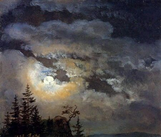 Johan Christian Dahl - A cloud and landscape study