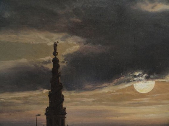 Johan Christian Dahl - Copenhagen Harbor by Moonlight