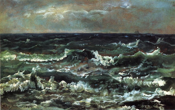Johan Christian Dahl - Waves and Breakers