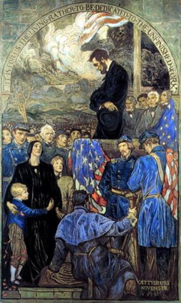 Violet Oakley - Lincoln Delivering The Gettysburg Address