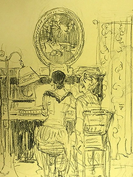 Violet Oakley - Women Playing Piano