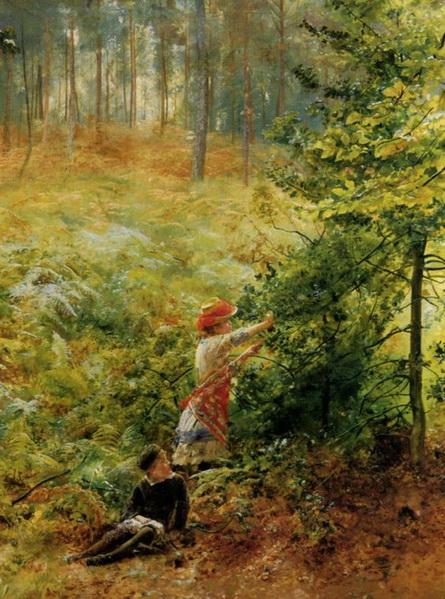 Robert Ponsonby Staples - PIcking Berries in the Woods