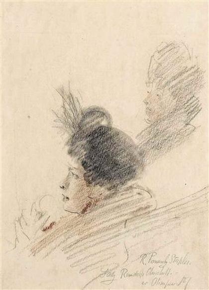 Robert Ponsonby Staples - Study of Lady Randolph Churchill