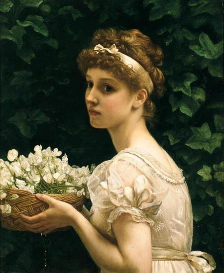 Edward John Poynter -  Pea Blossoms