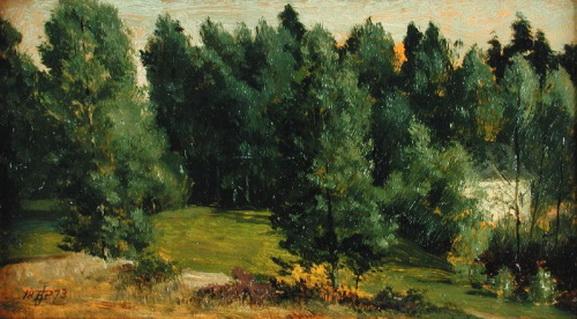 Edward John Poynter - wooded landscape