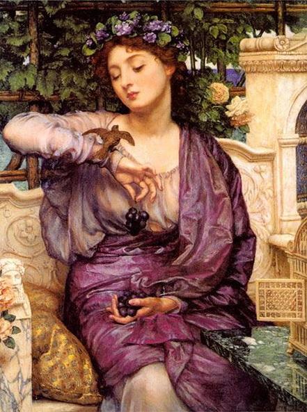Edward John Poynter -  Lesbia and her Sparrow