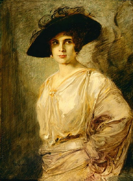 Friedrich August von Kaulbach -  Portrait of Hanna Ralph
