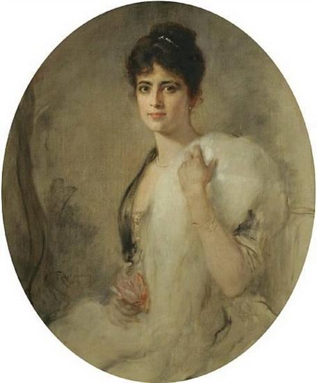 Friedrich August von Kaulbach -  a portrait of a lady