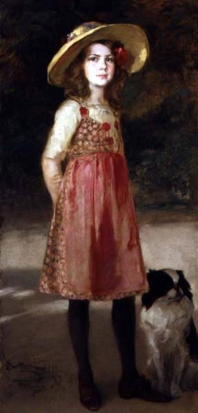 Friedrich August von Kaulbach -  the artists daughter hilde