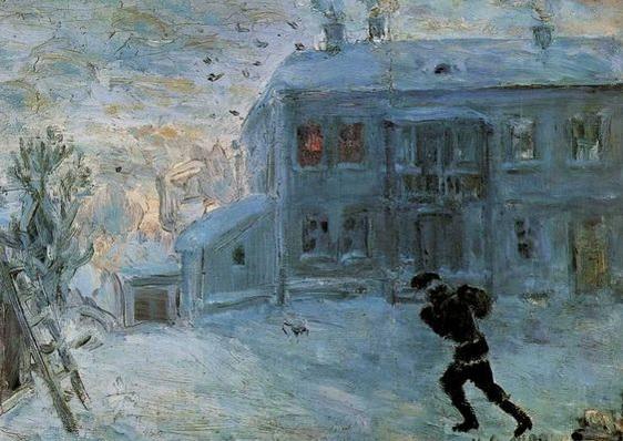 Mikhail Larionov - Пейзаж под снегом