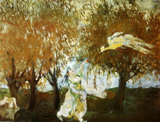Mikhail Larionov - Женщина и фламинго