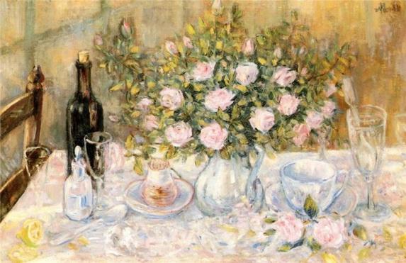 Mikhail Larionov - ваза с цветами