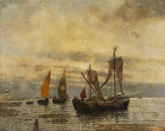Karl Heffner - Venezianische Bragozzi