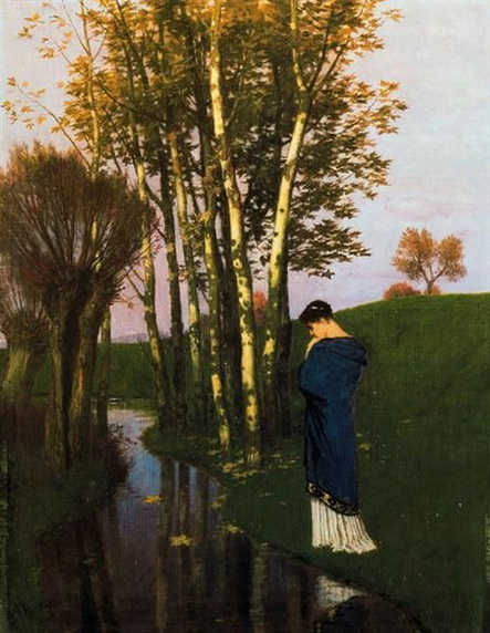 Arnold Bocklin - Autumn thoughts