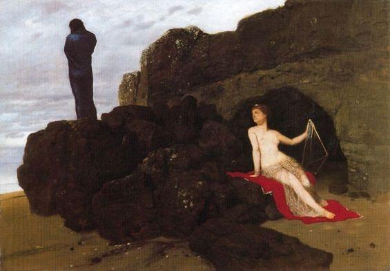 Arnold Bocklin -  Odysseus and Calypso