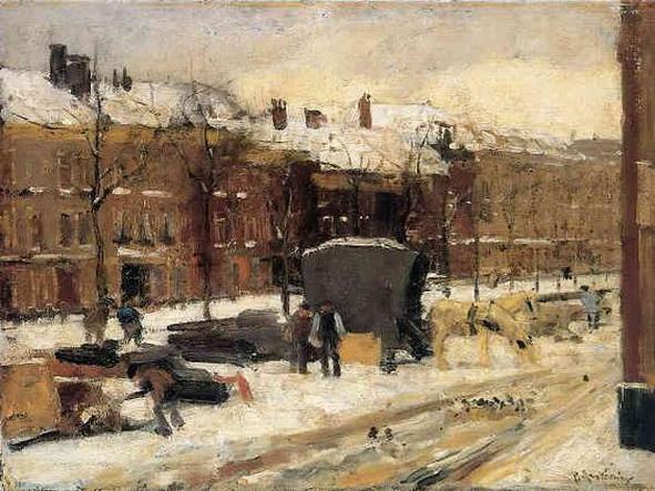 Floris Arntzenius - City View In The Snow