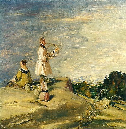 Adolf Hengeler - Standchen des Hornisten