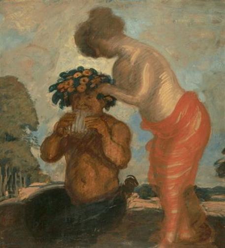 Adolf Hengeler - Pan und Nymphe