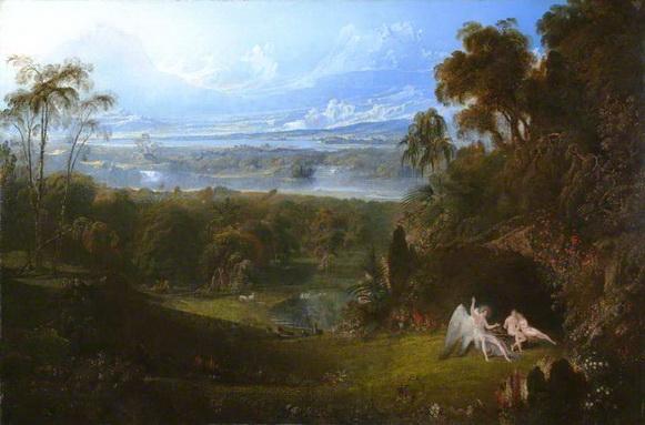 John Martin - Adam and Eve Entertaining the Angel Raphael
