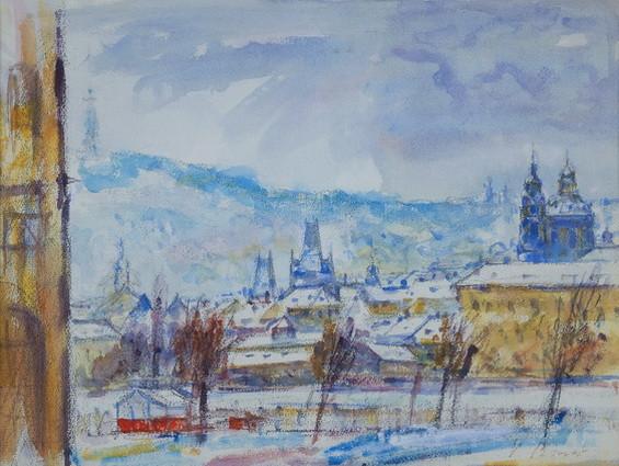 Vincenc Benes - Petrin v zime
