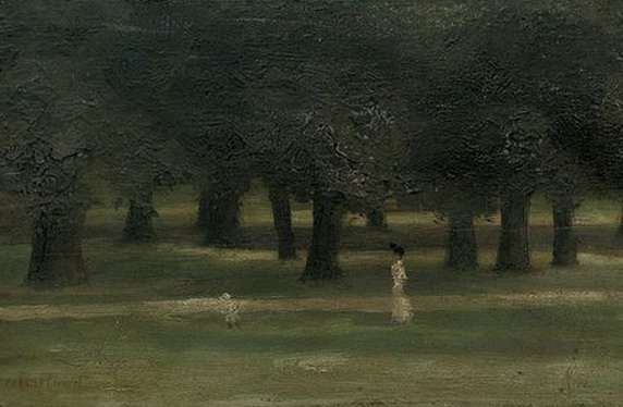 Paul Maitland - A Mother and child in Kensington Gardens