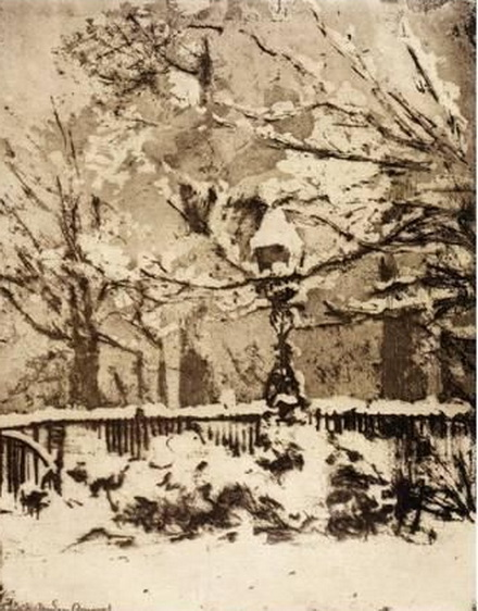 Theodore Roussel - The Snow. My front garden