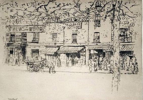 Theodore Roussel - The Street, Chelsea Embankment