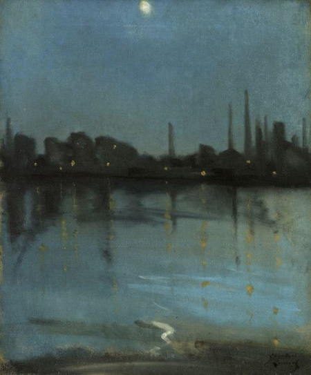 Theodore Roussel - The Thames by moonlight
