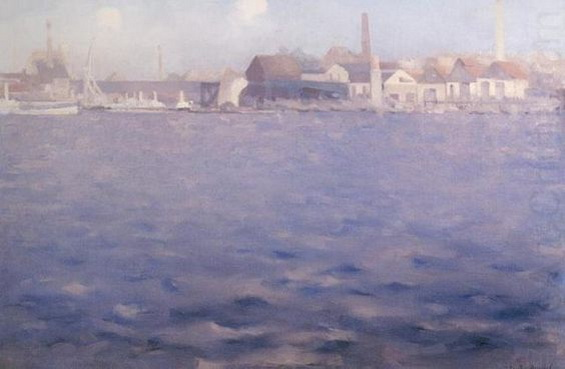 Theodore Roussel - Blue Thames End of a Summer Afternoon Chelsea