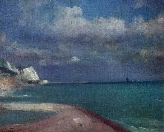 Theodore Roussel - Approaching Storm, Dover