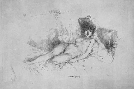 Theodore Roussel -  Study from the Nude